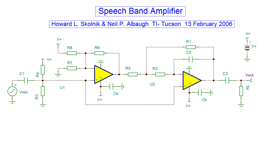 Speechbandamplifier