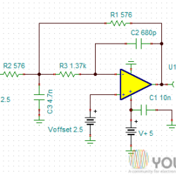 100KHz Low Pass Filter with Low DC Offset