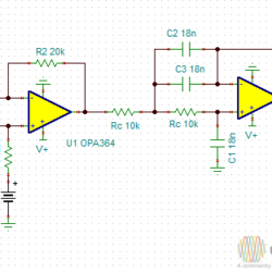 650Hz to 3000Hz Tunable Low Pass Filter with Two Opamp
