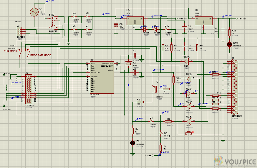 Icsp In Circuit Serial Programming Board Based On Pic16f84