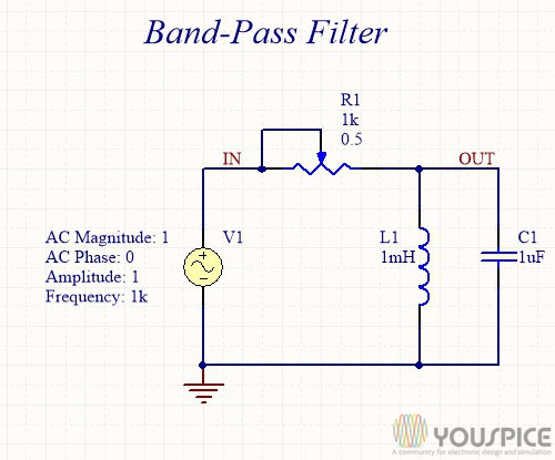 variable band pass filter with potentiometer youspice rh youspice com