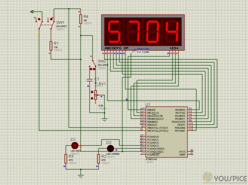 Finding Resistance In Circuit Ohmmeter : Precision ohmmeter with atmega youspice