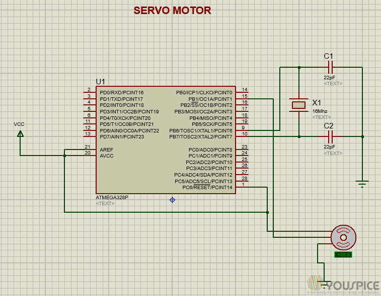 Servo Motor Controlled By Arduino Youspice