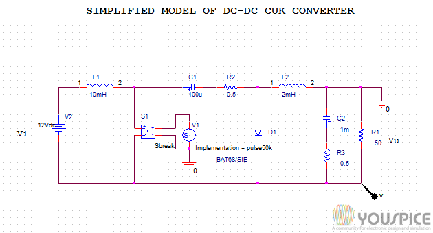 Simplified Model Of Dc Dc Buck Boost Converter Youspice
