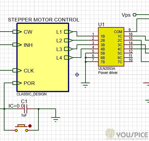 Stepper Motor Drived By A Control Unit Youspice