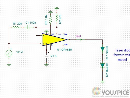 2 Ampere Cathode Grounded Laser Diode Driver Youspice