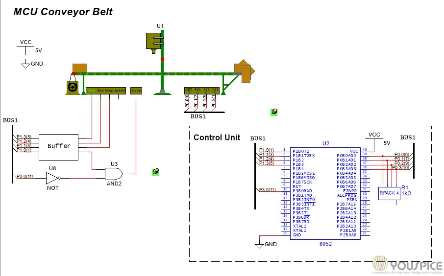 Conveyor Belt Controller with 8052 YouSpice