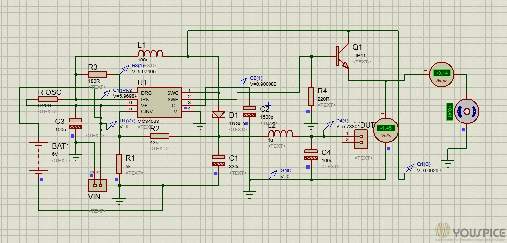 power boost voltage using mc34063