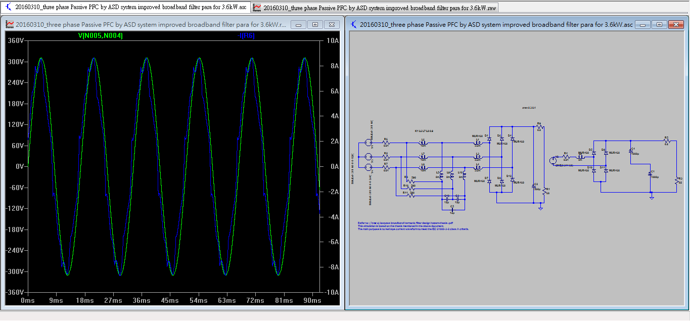 Lowpass Broadband Harmonic Filter For 3 Phase 36kw Youspice 5v 10a 50w Offline Switching Power Supply Circuit Diagram