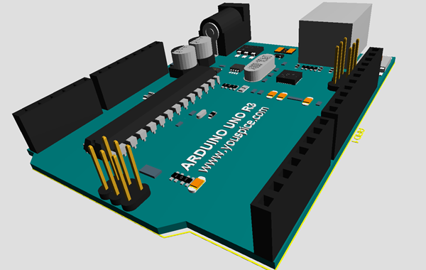 Arduino simulation pcb and d models libraries for proteus