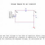 Pulse Train to RC circuit