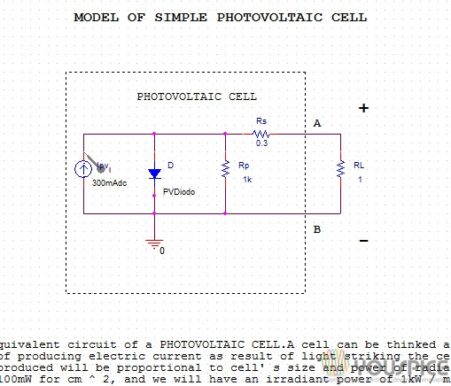 Simple Photovoltaic Cell