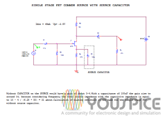 JFET common source with source capacitor