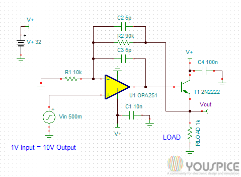 0-10V 10mA DAC Interface Circuit - Youe on