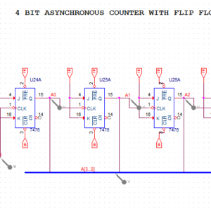 4 bits Synchronous Counter with J K Flip Flop - YouSpice