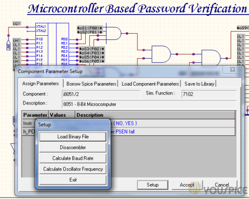 Second step After click on microcontroller click setup and load binary file