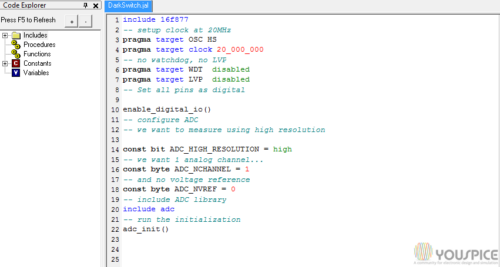 Program to edit and compile source code