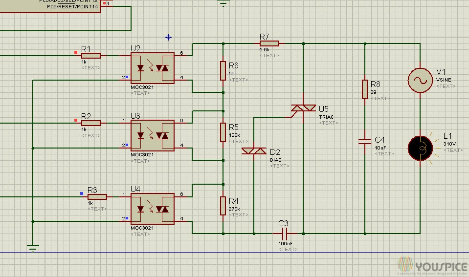 Triac Power Regulator for Dimmer Lamp with Arduino - YouSpice