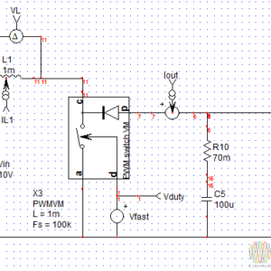 Simplified model of DC DC converter Boost Flyback - YouSpice