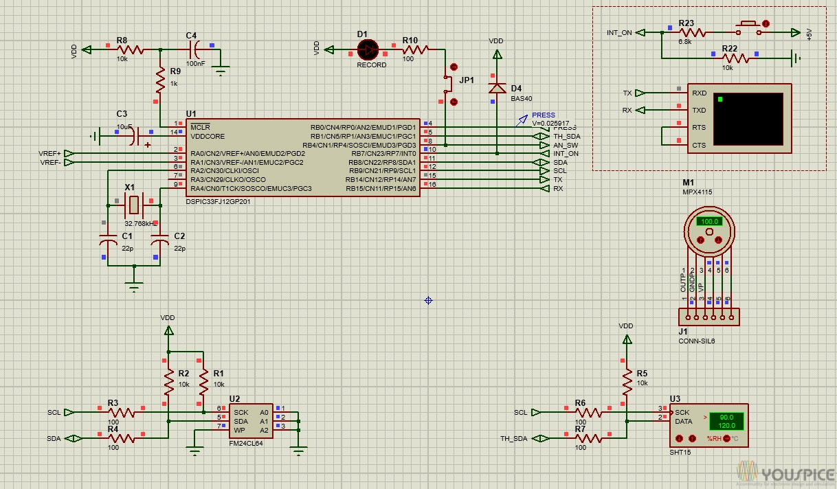 Data Recorder With Dspic33 Youspice Light Dimmer That Uses Triac Diac Controls The Brightness Of Schematic