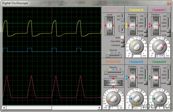 heartbit triggering signal amplified input signal to PIC heartbeat signal by sensor