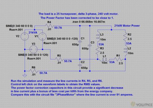 correction capacitors