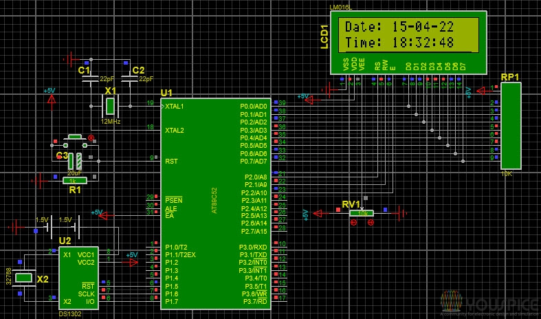 Real Time clock with DS1302 - YouSpice
