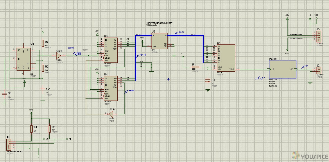 Signal Generator With 8 Bit Dac Youspice The Circuit Is Based On Motorola Mc34063 Switch Mode Controller Board 3d View