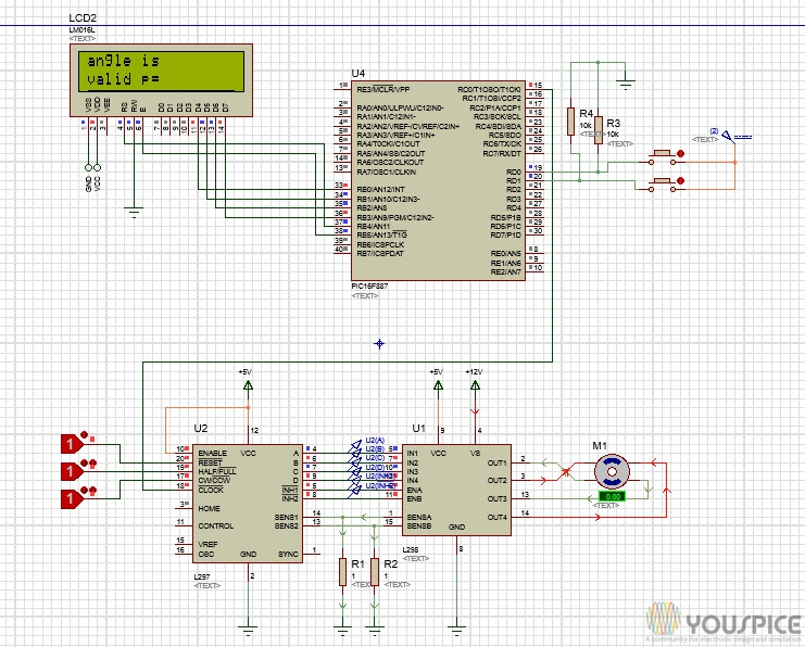 Stepper Motor Control with PIC 16F887 - YouSpice