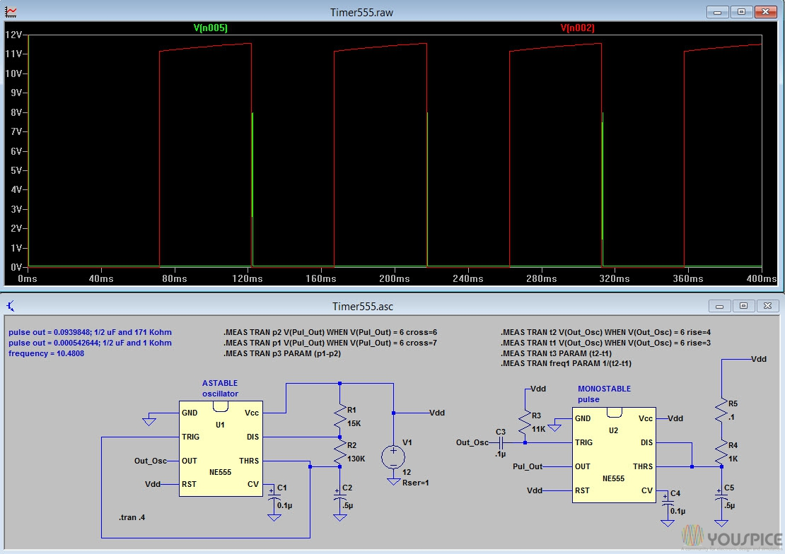 Ne555 Timer Application Youspice The Circuit Is Based On Motorola Mc34063 Switch Mode Controller