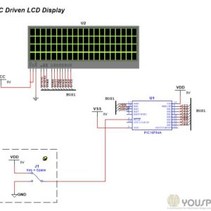 LCD Display Driver with a PIC 16F84A - YouSpice