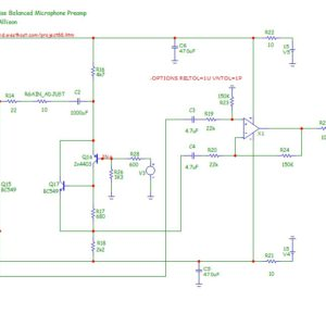 Two stages JFET preamplifier - YouSpice
