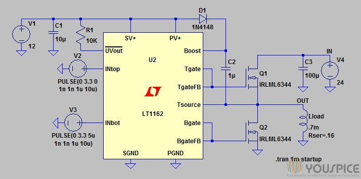 Half-/Full-bridge N-channel power MOSFET drivers - YouSpice