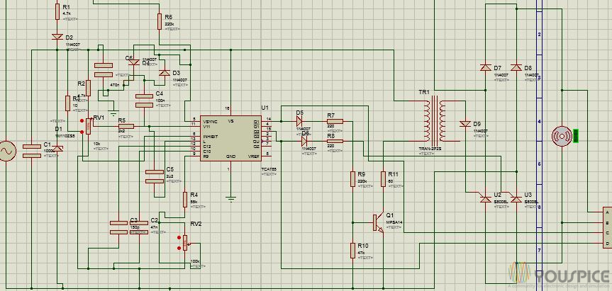 Generating of PWM signals with Tca785 IC