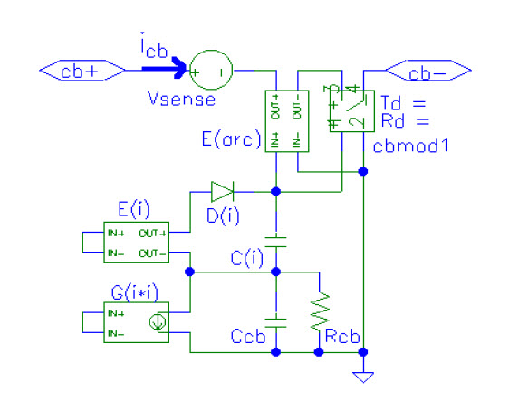 Fig. 4 Circuit-breaker model.